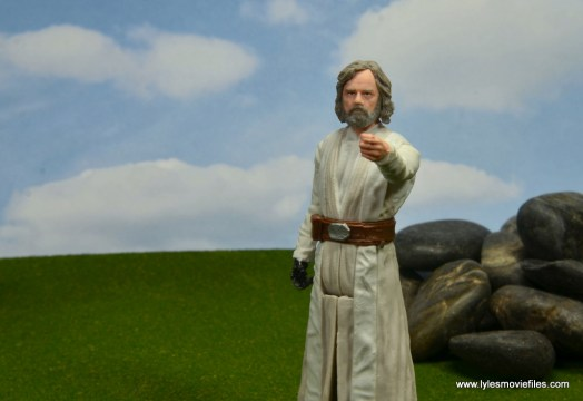 Star Wars The Last Jedi Master Luke Skywalker figure review -Force gesture