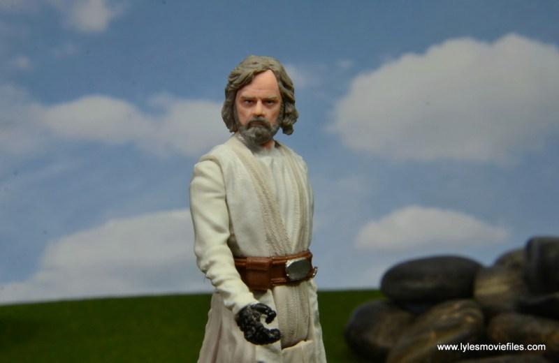Star Wars The Last Jedi Master Luke Skywalker figure review - head close up