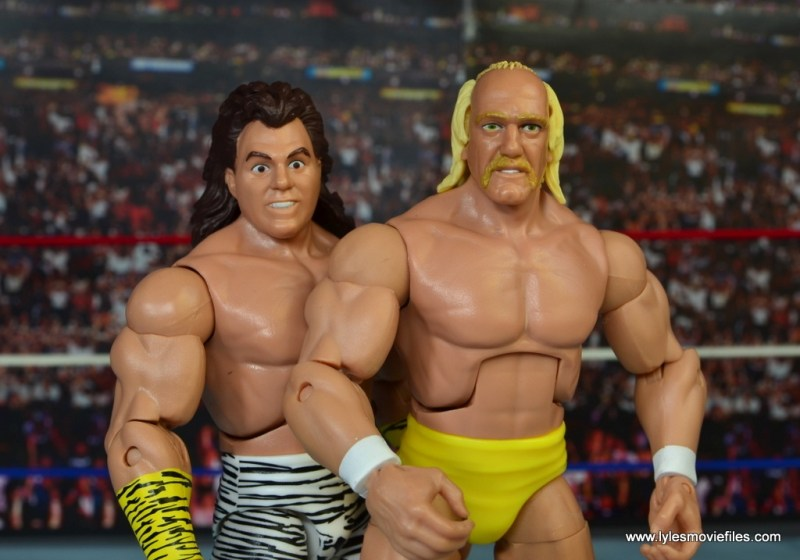 WWE Elite Brutus The Barber Beefcake figure review -scale with Hulk Hogan