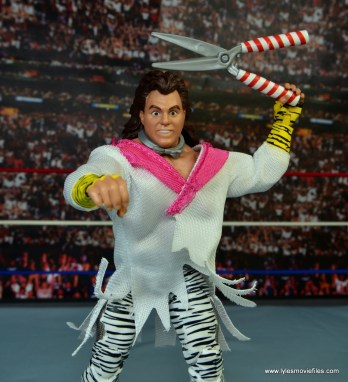WWE Elite Brutus The Barber Beefcake figure review -shears up