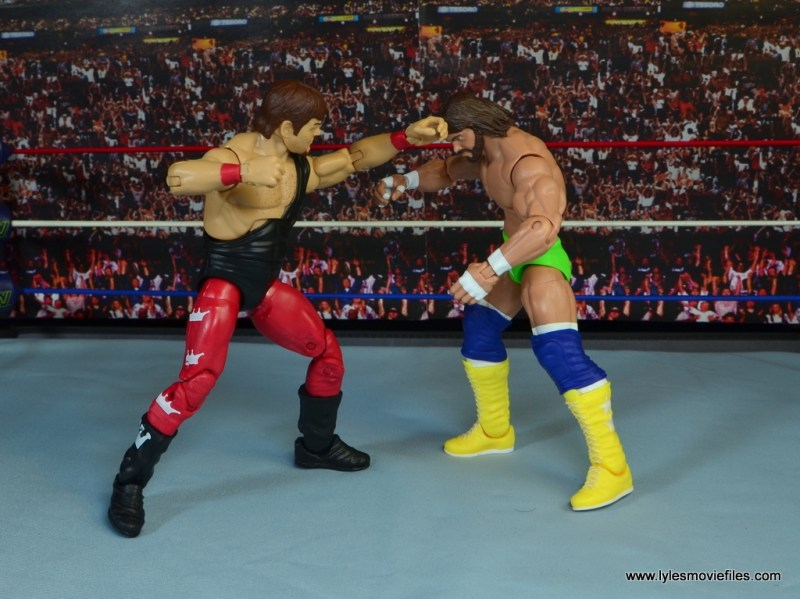 WWE Hall of Fame Jerry The King Lawler figure review -punching Macho Man