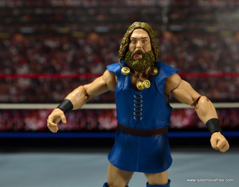 WWE The Berzerker figure review -helmet hair