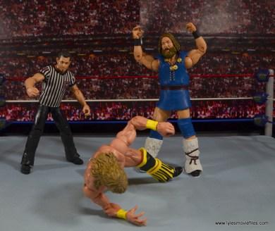 WWE The Berzerker figure review - stalking Texas Tornado