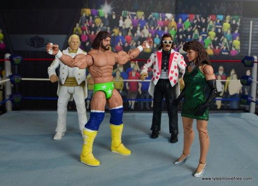 WWE Then Now Forever Miss Elizabeth figure review -introducing Miss Elizabeth to Bobby Heenan and Jimmy Hart