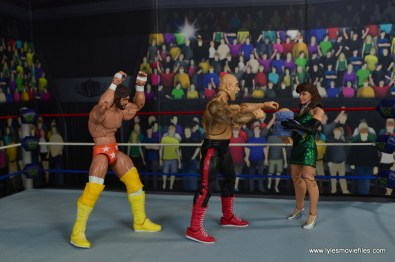 WWE Then Now Forever Miss Elizabeth figure review - meeting Mine while Macho ambushes George Animal Steele