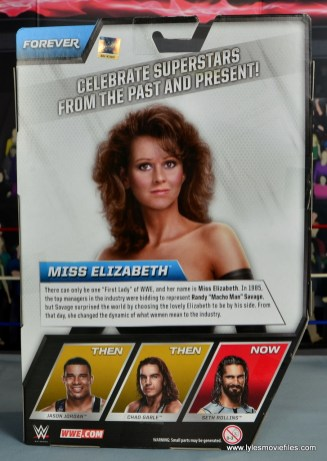 WWE Then Now Forever Miss Elizabeth figure review -package rear