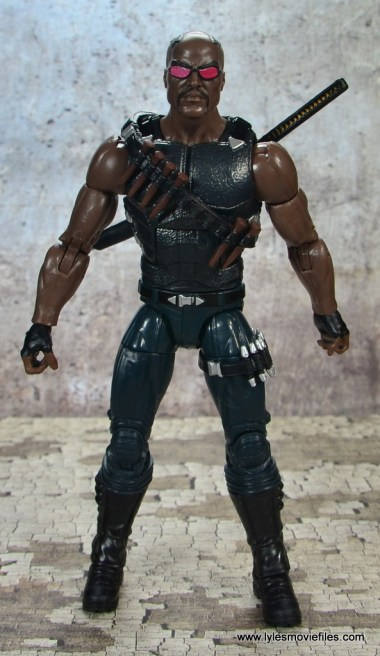 Marvel Legends Blade figure review -front