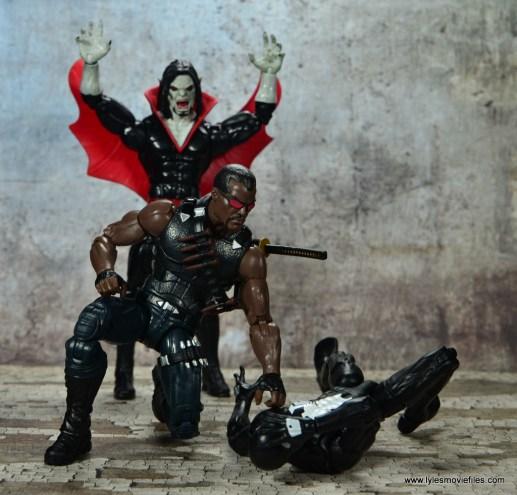 Marvel Legends Blade figure review - helping Spider-Man