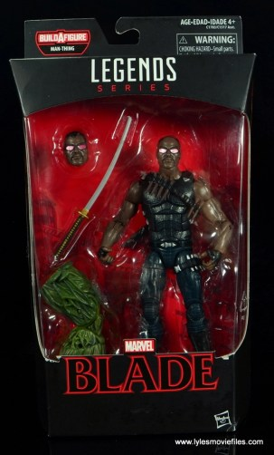 Marvel Legends Blade figure review - package front