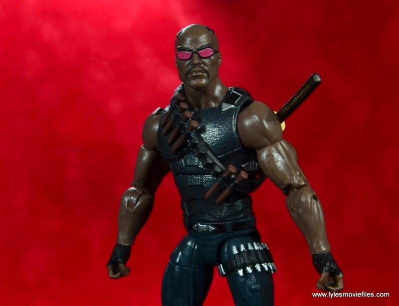 Marvel Legends Blade figure review -red wide