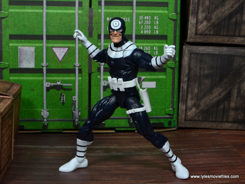 Marvel Legends Bullseye figure review - arms out