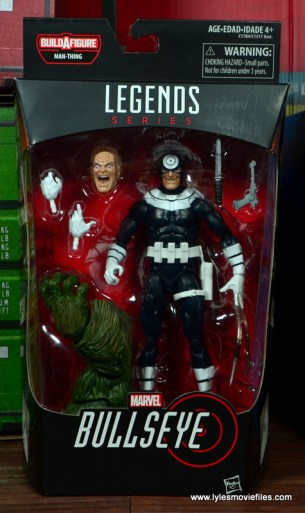 Marvel Legends Bullseye figure review - front package