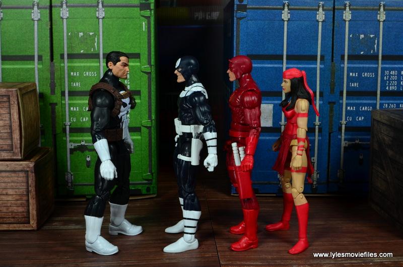 Marvel-Legends-Bullseye-figure-review-scale-with-Punisher-Daredevil-Elektra