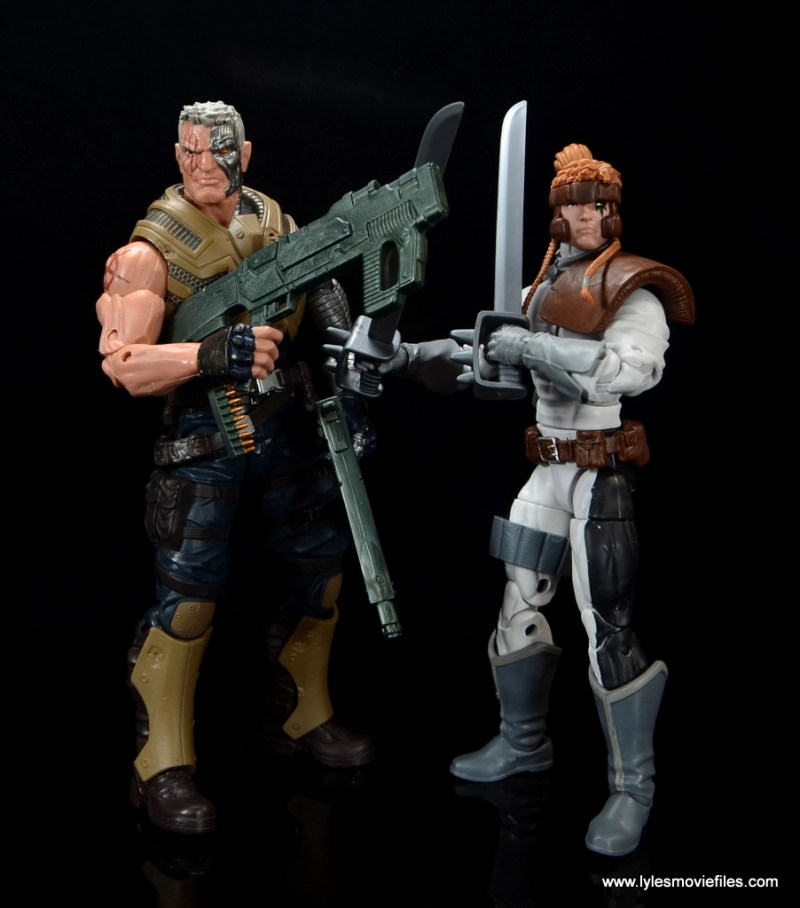 Marvel Legends Shatterstar figure review -scale with Cable