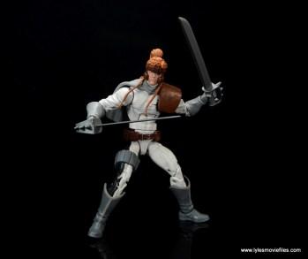 Marvel Legends Shatterstar figure review -wide swords