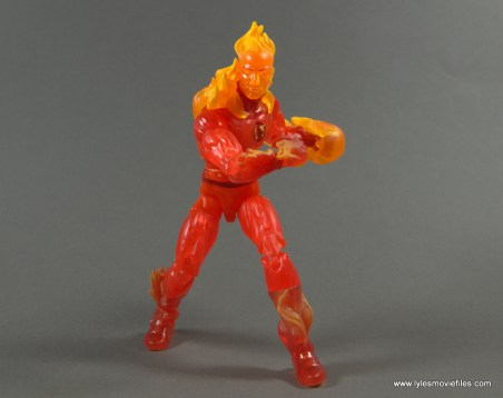 Marvel Legends The Human Torch figure review -battle pose