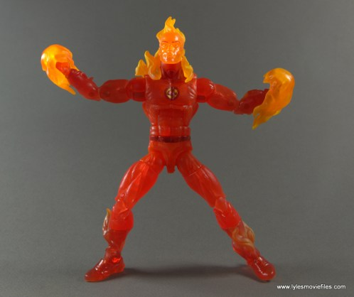 Marvel Legends The Human Torch figure review -fireballs on