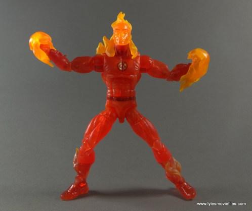 Marvel Legends The Human Torch figure review -fireballs on