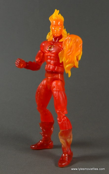 Marvel Legends The Human Torch figure review - flaming hand