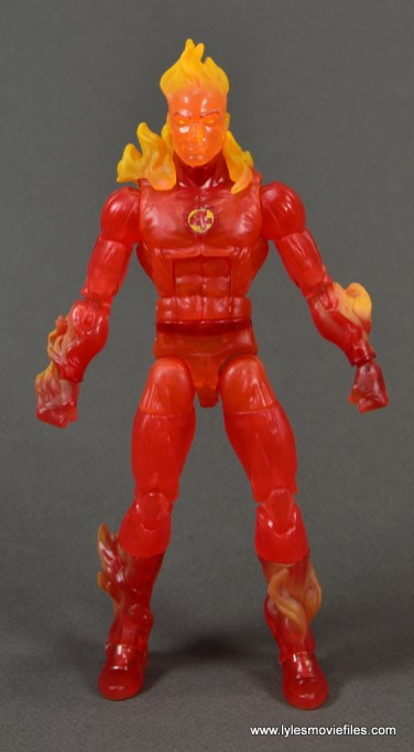 Marvel Legends The Human Torch figure review - front