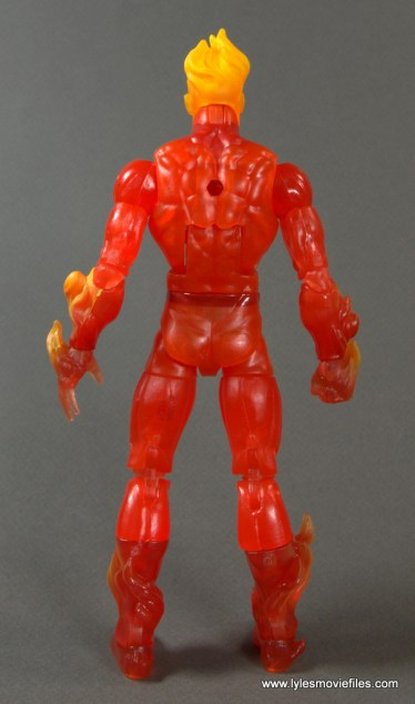 Marvel Legends The Human Torch figure review - rear with no flame backpack