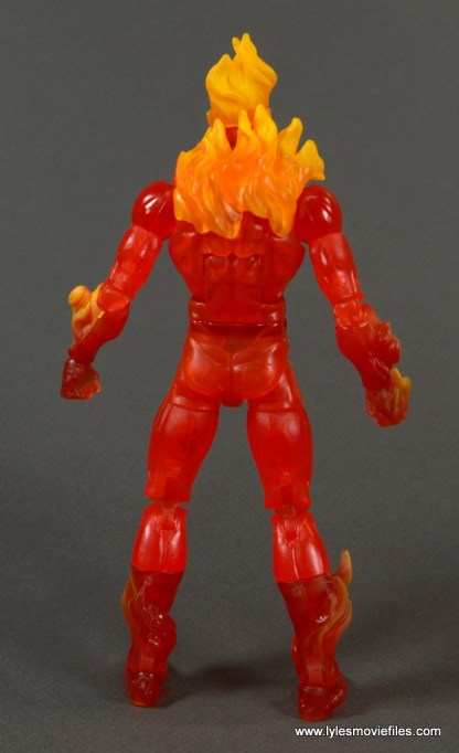 Marvel Legends The Human Torch figure review - rear