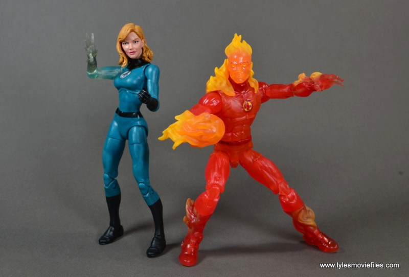 Marvel Legends The Human Torch figure review - with Invisible Woman