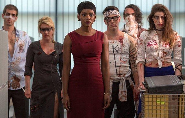 Mayhem review - Caroline Chikezie and rage workers