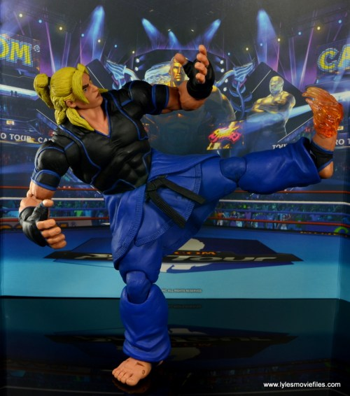 Storm Collectibles Street Fighter V Ken figure review - sparking flaming hurricane kick