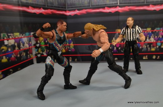 WWE Elite D-Lo Brown figure review -punching Triple H