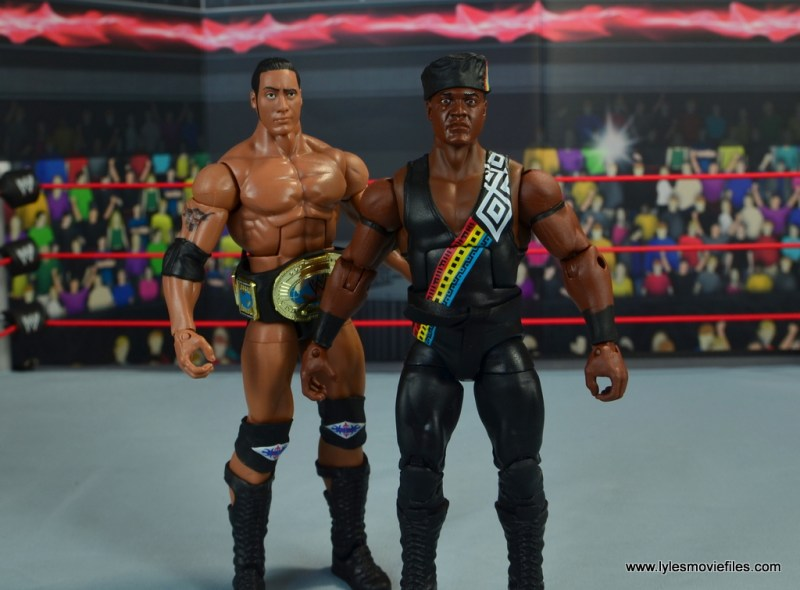 WWE Elite Farooq and The Rock Nation of Domination figure review set - wide shot