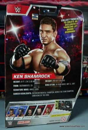 WWE Elite Ken Shamrock figure review -package rear