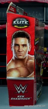 WWE Elite Ken Shamrock figure review -package side
