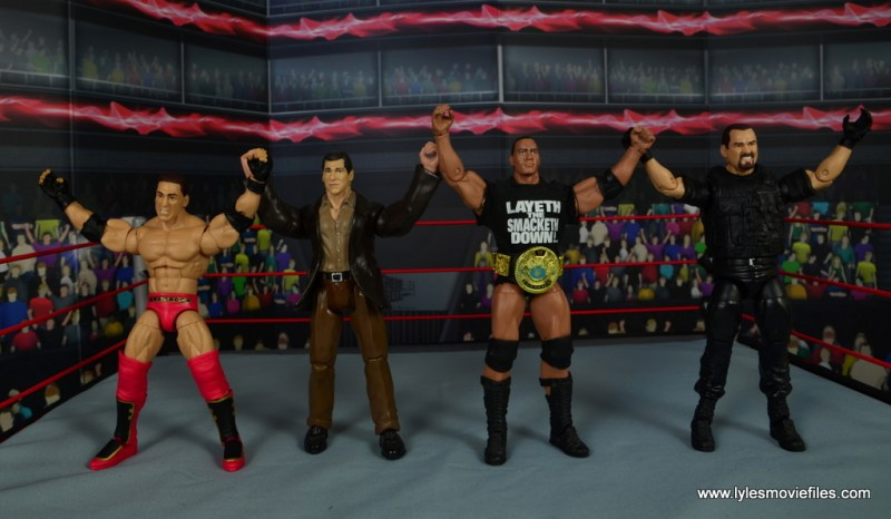 WWE Elite Ken Shamrock figure review -with Vince McMahon, The Rock and Big Boss Man