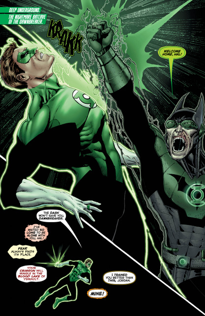 Hal Jordan and the Green Lantern Corps #32 interior art