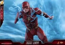 Hot Toys Justice League The Flash figure - rushing through lighting
