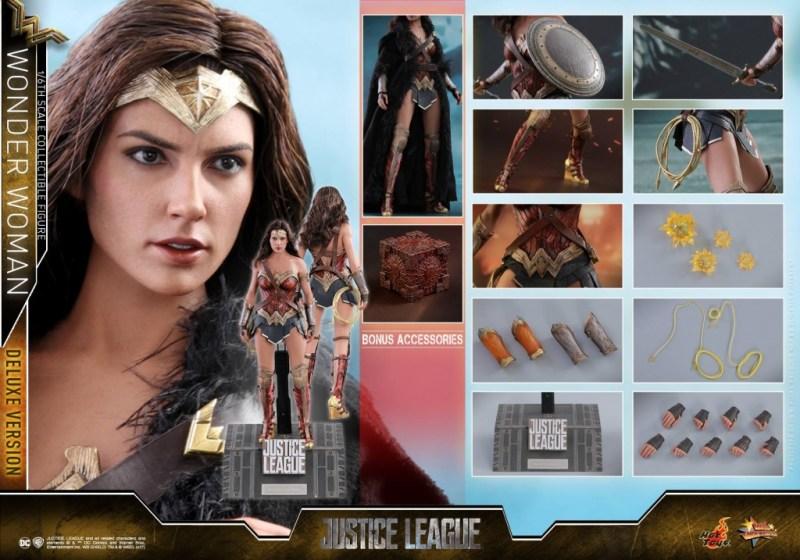 Hot Toys Justice League Wonder Woman figure -collage