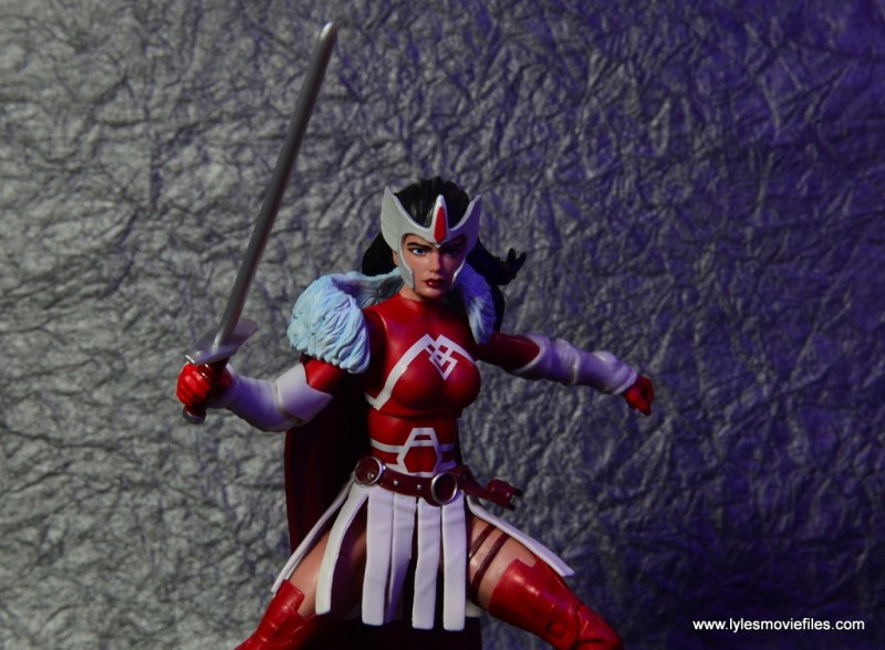 Marvel Legends A-Force Lady Sif figure review -raising sword