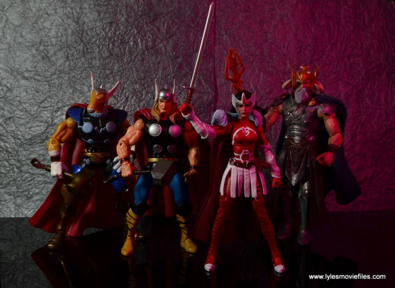 Marvel Legends A-Force Lady Sif figure review -with Beta Ray Bill, Thor and Odin