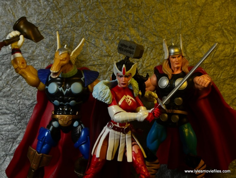 Marvel Legends A-Force Lady Sif figure review -with Beta Ray Bill and Thor