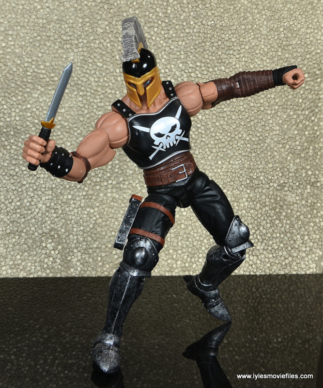 Marvel Legends Ares figure review -dagger out
