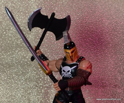 Marvel Legends Ares figure review -sword front