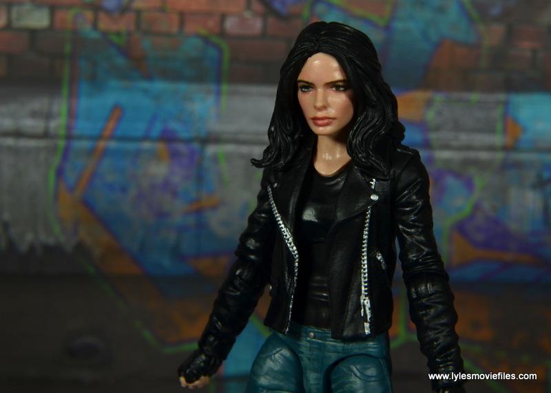 Marvel Legends Jessica Jones figure review - head close up