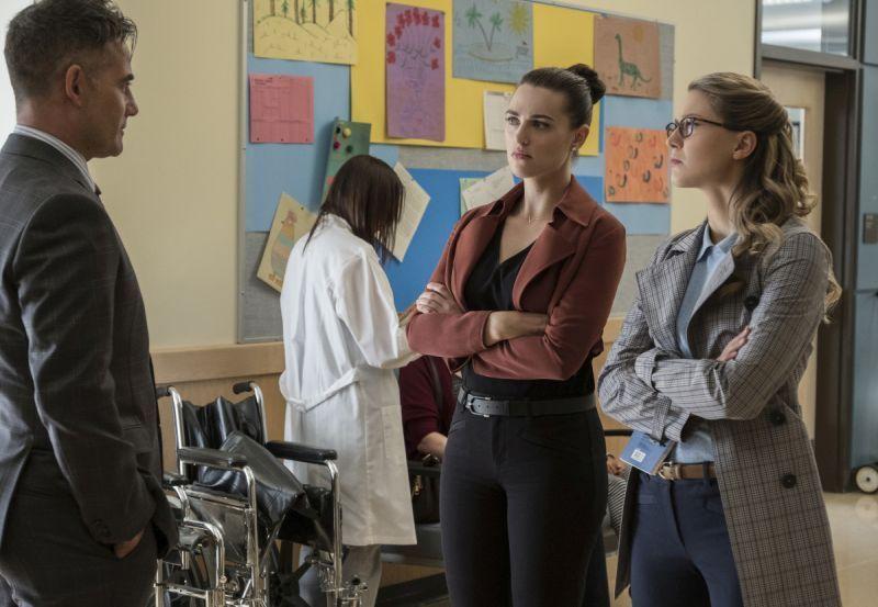 Supergirl Damage - Morgan Edge, Lena and Kara