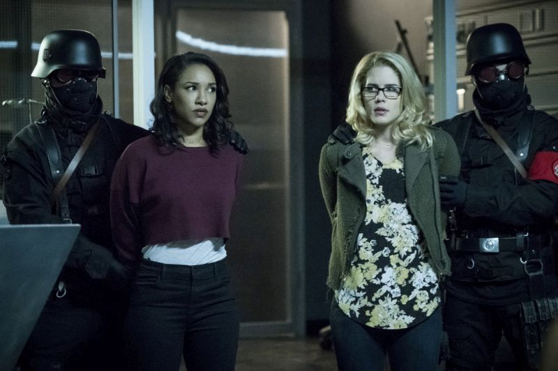 The Flash Crisis on Earth-X Part 3 review -Iris and Felicity
