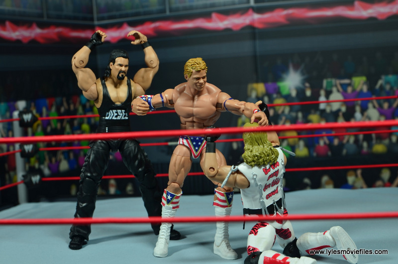 WWE Elite Hall of Fame Diesel figure review -about to club Lex Luger