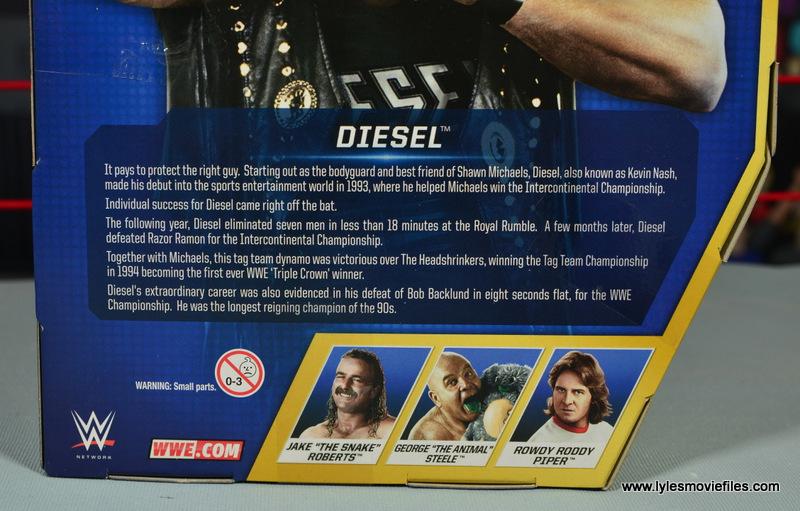 WWE Elite Hall of Fame Diesel figure review - bio
