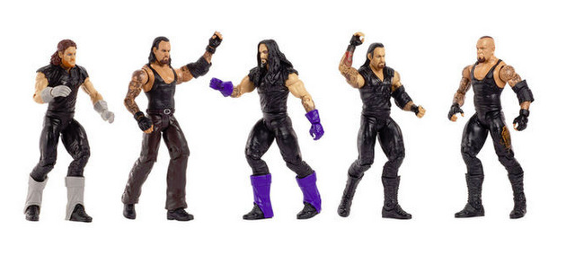 WWE Network Spotlight Action Figure Set - History of The Undertaker - action poses
