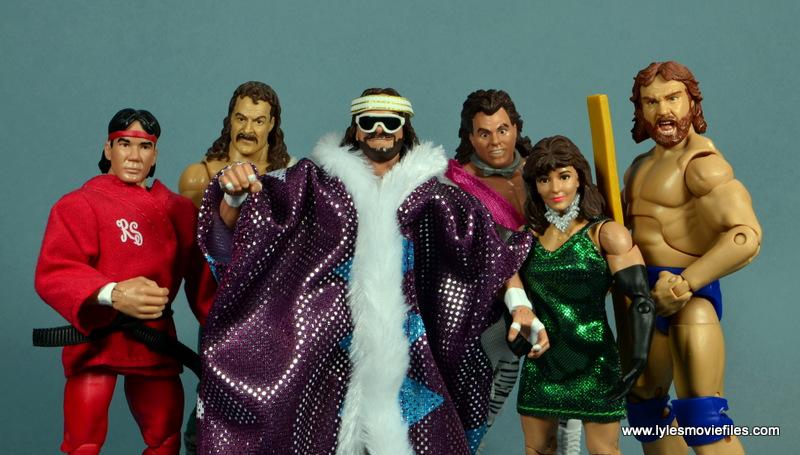 WWE Survivor Series Teams - 1987 Ricky Steamboat, Jake the Snake, Macho Man, Brutus Beefcake, Miss Elizabeth and Hacksaw Jim Duggan