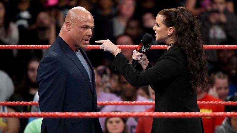 Kurt angle and  Stephanie McMahon